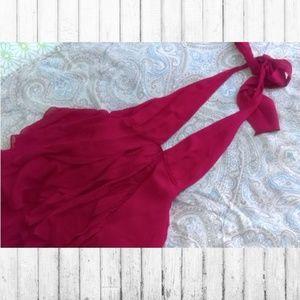 BCBG Max Azria Collection Silk Halter Top